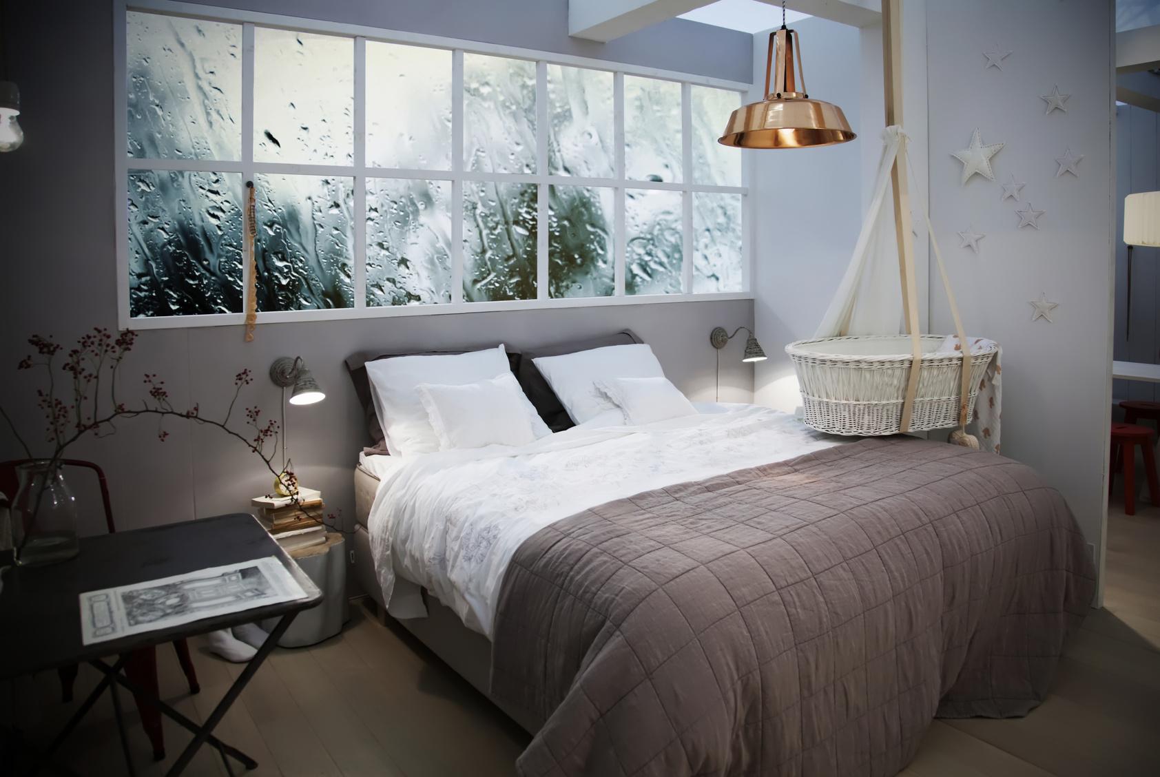 Skandynawskie oświetlnie wsypialni